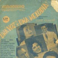 Catálogos de Música: CANCIONERO. UNA VOZ Y UNA MELODIA. OYEME, HABLAME DE AMOR … A-CANCI-021. Lote 41182998