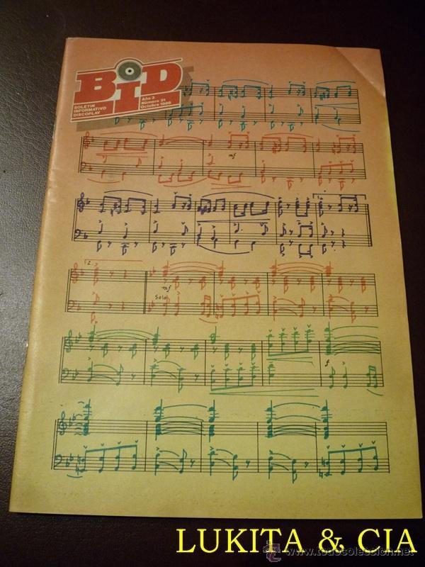 BID - BOLETÍN INFORMATIVO DISCOPLAY - OCTUBRE 1986 (Música - Catálogos de Música, Libros y Cancioneros)