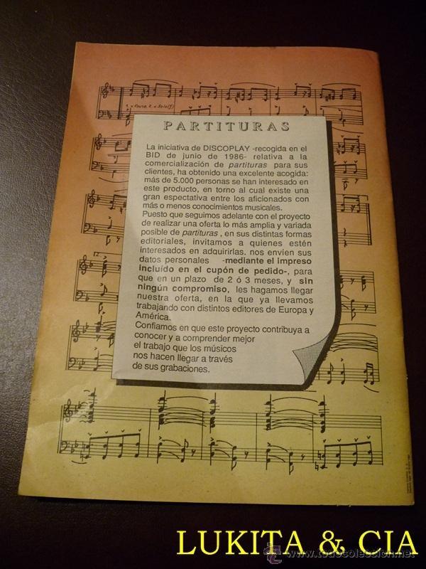 Catálogos de Música: BID - BOLETÍN INFORMATIVO DISCOPLAY - OCTUBRE 1986 - Foto 2 - 41397842