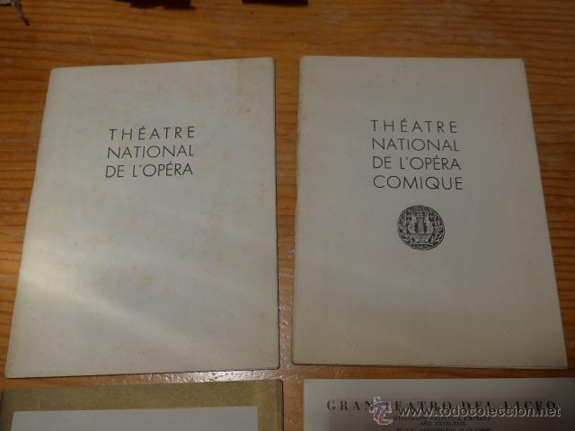 Catálogos de Música: Lote de 4 programa de Teatro, musica, opera, paris, liceo, liceu - Foto 2 - 41608883