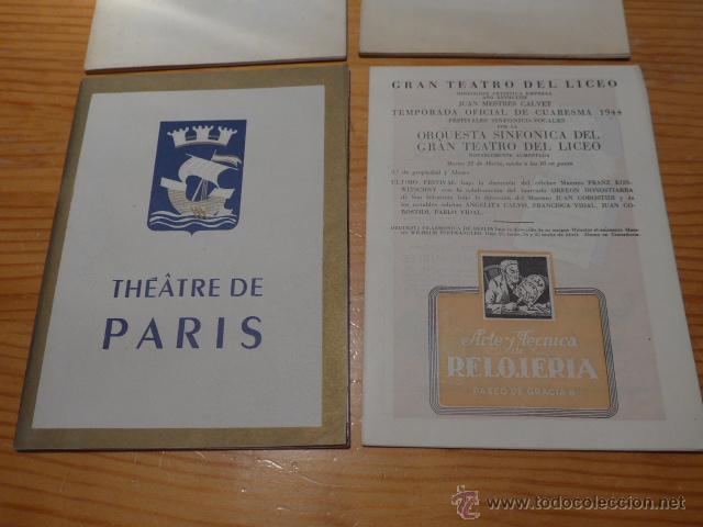 Catálogos de Música: Lote de 4 programa de Teatro, musica, opera, paris, liceo, liceu - Foto 3 - 41608883