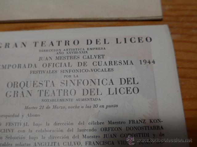 Catálogos de Música: Lote de 4 programa de Teatro, musica, opera, paris, liceo, liceu - Foto 4 - 41608883