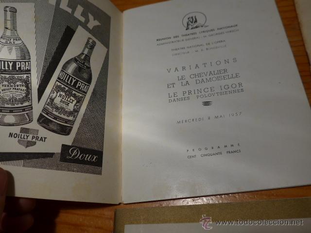 Catálogos de Música: Lote de 4 programa de Teatro, musica, opera, paris, liceo, liceu - Foto 5 - 41608883