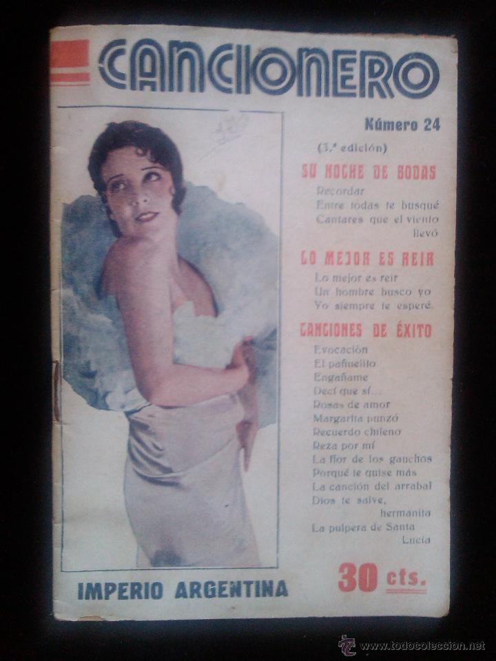 CANCIONERO Nº 24 IMPERIO ARGENTINA ED ALAS SUS GRANDES EXITOS 32 PAGINAS (Música - Catálogos de Música, Libros y Cancioneros)