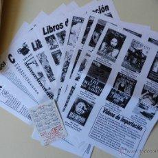 Catálogos de Música: CATÁLOGO INIESA 1 MÚSICA CINE COMIC CATÁLOGO GENERAL VENTA POR CORREO FANZINES DE IMPORTACIÓN. Lote 42339826