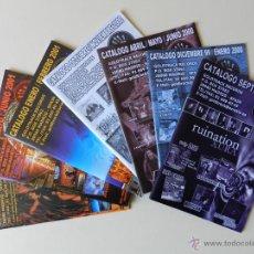 Catálogos de Música: LOTE 7 CATÁLOGOS GOLDTRACK RECORDS GOLD TRACK CATÁLOGO GENERAL VENTA POR CORREO AÑOS 1999 2000 2001. Lote 42339955