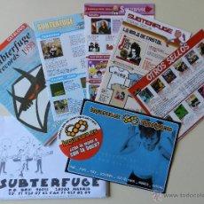 Catálogos de Música: LOTE 5 CATÁLOGOS SUBTERFUGE RECORDS CATALOGO MUSICA SELLO DISCOGRAFICA 1999 2002 2003. Lote 42340013