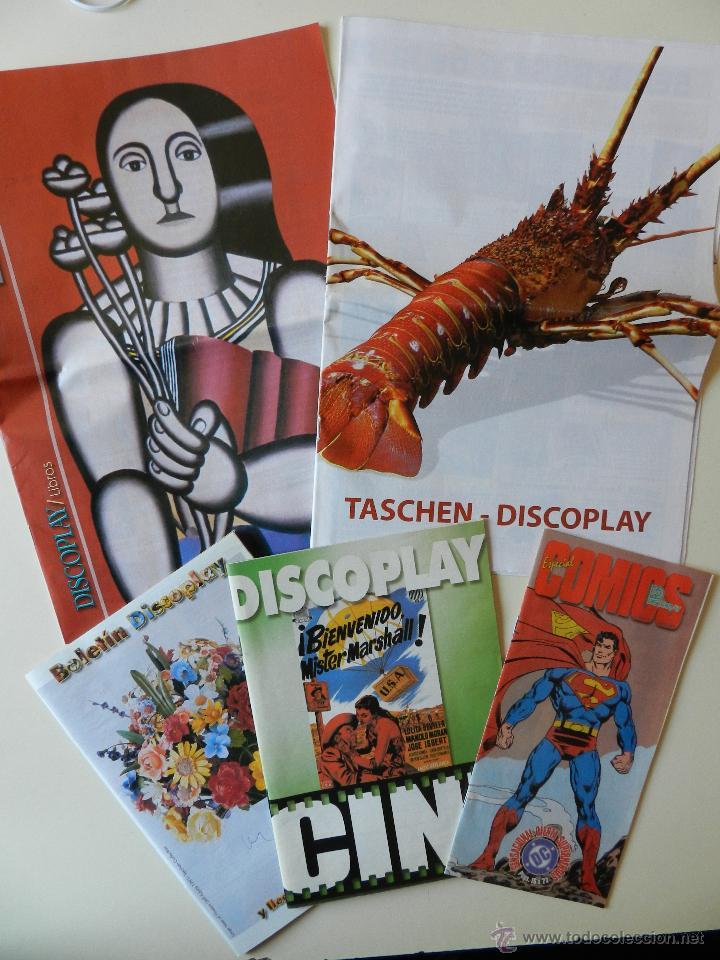 LOTE 5 CATALOGOS DEL BOLETÍN DISCOPLAY (Música - Catálogos de Música, Libros y Cancioneros)
