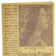Catálogos de Música: LOS GRANDES ÉXITOS DE CONCHITA PIQUER A-CANCI-037. Lote 42408426