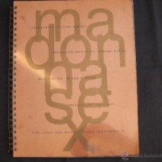Catálogos de Música: LIBRO MADONNA SEX // PASTAS DE CARTON // CONTIENE EL COMIC. Lote 151089550