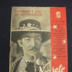 Catálogos de Música: CANCIONERO JORGE NEGRETE.. Lote 43201098