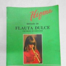 Catálogos de Música: METODO DE FLAUTA DULCE POR MEDIO DE CANCIONES. HIGMA. ADORACION BIU. TDK185. Lote 112929462