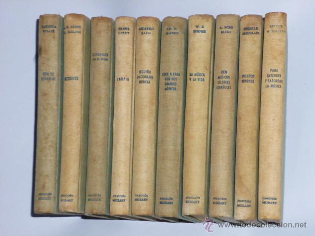 COLECCIÓN MOZART. 10 MONOGRAFÍAS DEL MUNDO DE LA MÚSICA. (Música - Catálogos de Música, Libros y Cancioneros)