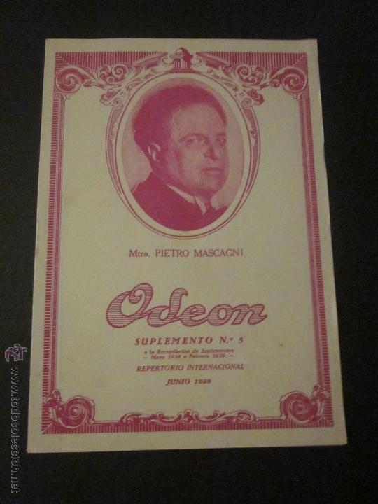 CATALOGO DISCOS ODEON JUNIO 1929 - VER FOTOS ADICIONALES (Música - Catálogos de Música, Libros y Cancioneros)