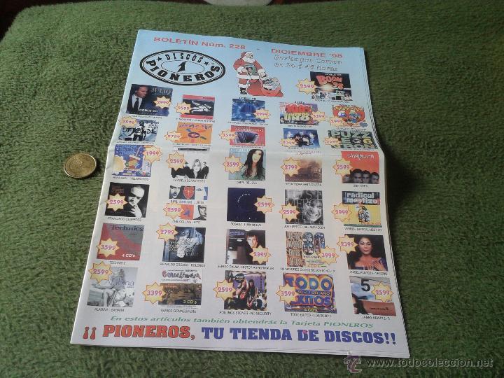 REVISTA BOLETIN CATOLOGO MUSICAL NUM. 228 DICIEMBRE 1998 98 DISCOS PIONEROS JAEN MUSICA (Música - Catálogos de Música, Libros y Cancioneros)