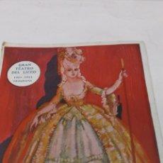 Catálogos de Música - GRAN TEATRO DEL LICEO. PROGRAMA 1921 - 1922. GARIN. OPERA EN 4 ACTOS. MUSICA DE TOMAS BRETON - 43979116