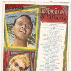 Catálogos de Música: PELÍCULAS Y RITMOS. HARRY BELAFONTE, HERMANAS SERRANO, ETC. CANCIONERO. Lote 44118462
