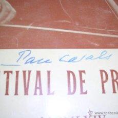 Catálogos de Música: PROGRAMA DE MUSICA - FESTIVAL DE PRADES MCMLXIV ,CON AUTOGRAFO ORIGINAL A PLUMA DE PAU CASALS . Lote 44359534