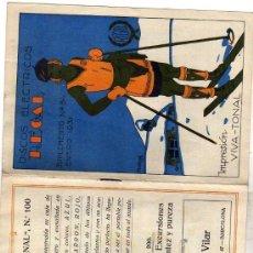 Catálogos de Música: DISCOS ELECTRICOS REGAL. SUMPLEMENTO Nº 84 ENERO 1931. VIVA-TONAL. ILUSTRADO PRO PENAGOS.. Lote 44453193