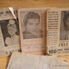 Catálogos de Música: LOTE DE CANCIONEROS - JOSELITO , ACEBES MEJIAS . MARISOL. Lote 44621931