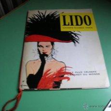 Catálogos de Música: LIDO,LE PLUS CÉLÉBRE CABARET DU MONDE. Lote 44677742