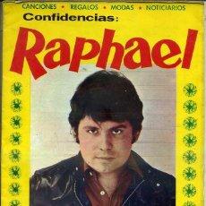 Catálogos de Música: CONFIDENCIAS RAPHAEL DE ANGEL A PRÍNCIPE. Lote 44787313