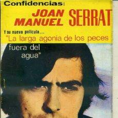 Catálogos de Música: CONFIDENCIAS JOAN MANUEL SERRAT EN LA PELÍCULA LARGA AGONÍA DE LOS PECES. Lote 90539659