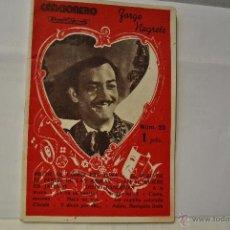 Catálogos de Música: CANCIONERO , JORGE NEGRETE. Lote 44790518