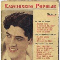 Catálogos de Música: CANCIONERO POPULAR Nº 4, JOSE MOJICA. Lote 44862449