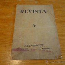 Catálogos de Música: ANTIGUA REVISTA DEL ORFEO GRACIENC, GRACIA, BARCELONA. 1934. Lote 45137070