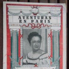 Catálogos de Música: AVENTURAS EN PARIS. MARIA TERESA MORENO. CANTABLES.OPERETA. MÚSICA C MILLOCKER I A MACKEBEN. V FOTOS. Lote 45339031