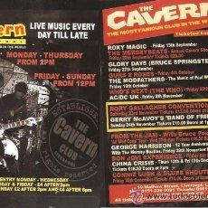 Catálogos de Música: * HOJA FOLLETO * CLUB THE CAVERN * LIVERPOOL ( THE BEATLES ). Lote 120421354