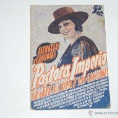 Catálogos de Música: CANCIONERO REVISTA PASTORA IMPERIO. AÑO 1934. Lote 46081550