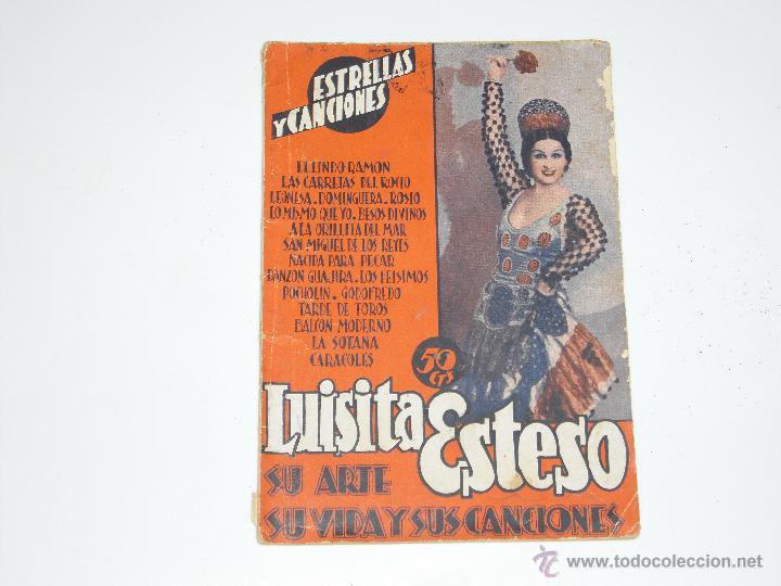 CANCIONERO REVISTA SOBRE LUISITA ESTESO. AÑO 1935 (Música - Catálogos de Música, Libros y Cancioneros)