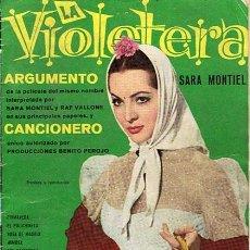 Catálogos de Música: CANCIONERO Y ARGUMENTO DE LA VIOLETERA SARA MONTIEL . Lote 46221600