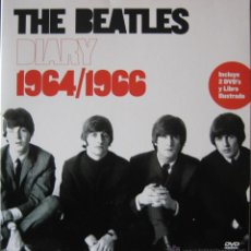 Catálogos de Música: THE BEATLES DIARY 1964/1966 CAJA TAMAÑO LP CON 2 DVD Y LIBRO CON FOTOS EDITADO EN ESPAÑA. Lote 46786137