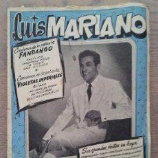 Catálogos de Música: CANCIONERO BISTANGE - LUIS MARIANO. Lote 46843160