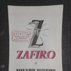 Catálogos de Música: CATALOGO ZAFIRO OCTUBRE 58 -(V-1704). Lote 47149642