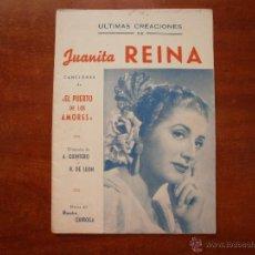 Catálogos de Música: CANCIONERO LIBRITO ESPAÑOL CANCIONES DE JUANITA REINA ULTIMAS CREACIONES. Lote 47329556
