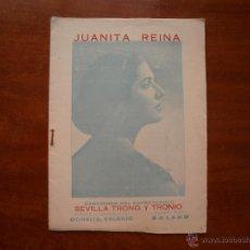 Catálogos de Música: CANCIONERO LIBRITO ESPAÑOL CANCIONES DE JUANITA REINA SEVILLA Y TRONIO. Lote 47329629