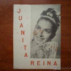 Catálogos de Música: CANCIONERO LIBRITO ESPAÑOL CANCIONES DE JUANITA REINA. Lote 47329673