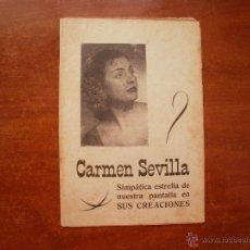 Catálogos de Música: CANCIONERO LIBRITO ESPAÑOL CANCIONES DE CARMEN SEVILLA. Lote 47329711