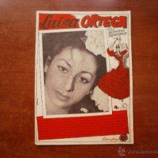 Catálogos de Música: CANCIONERO LIBRITO ESPAÑOL CANCIONES DE LUISA ORTEGA SUS GRANDES CREACIONES. Lote 47329750