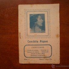 Catálogos de Música: CANCIONERO LIBRITO ESPAÑOL CANCIONES DE CONCHITA PIQUER. Lote 47329793
