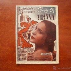 Catálogos de Música: CELEBRIDADES EL CANCIONERO LIBRITO ESPAÑOL CANCIONES DE GRACIA DE TRIANA. Lote 47329892