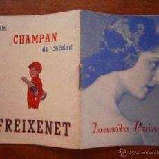 Catálogos de Música: PEQUEÑO LIBRO LIBRITO BREVE BIOGRAFIA DE JUANITA REINA 1943 GRAFICAS PROGRESO CANCIONERO FREIXENET. Lote 47560612