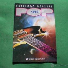 Catálogos de Música: CATALOGO GENERAL WARNER SPAIN POP 96 REVISTA 47 PAG REF Y CARATULAS A TODO COLOR PDELUXE. Lote 47663542