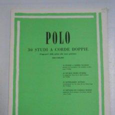 Catálogos de Música: ENRICO POLO. 30 STUDI A CORDE DOPPIE. PER VIOLINO. RICORDI. VIOLIN. TDKR23. Lote 136091416