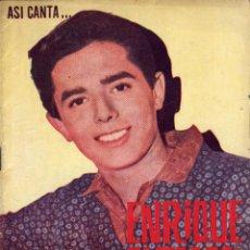 Catálogos de Música: ASÍ CANTA ENRIQUE GÚZMAN. Lote 48141287