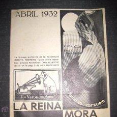 Catálogos de Música: CATALOGO DISCOS LA VOZ DE SU AMO - ABRIL 1932 - VER FOTOS - (V-2138). Lote 48342021